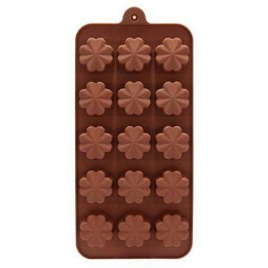 Forma de Silicone Chocolate Flor Le chef Rizzo Confeitaria