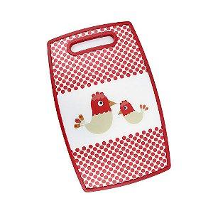 Tábua de Corte Galinha Vermelha 36,5 x 22,5cm Clink Rizzo Confeitaria