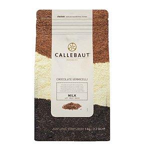 Chocolate Callebaut Ao Leite Vermicelli Granulado 1 kg Rizzo Confeitaria