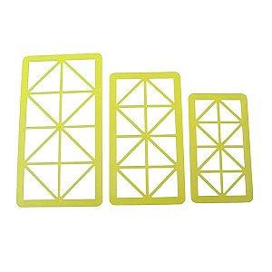 Cortador Geométrico Triângulo Retângulo com 3 pçs Blue Star Rizzo Confeitaria