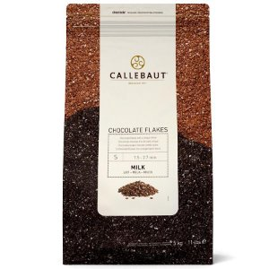 Chocolate Callebaut Ao Leite SPLIT-4-M Flocos 5 kg Rizzo Confeitaria