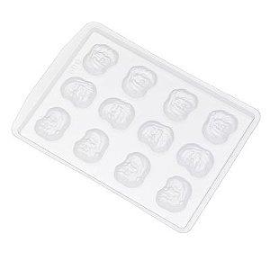 Forma de Acetato Rosto Papai Noel Ref. 600 Crystal Rizzo Confeitaria