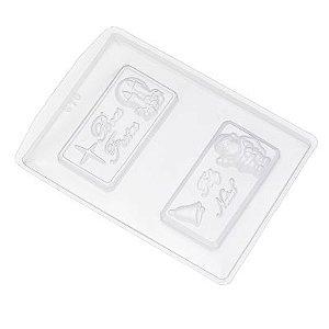 Forma de Acetato Cartão de Natal Ref. 670 Crystal Rizzo Confeitaria