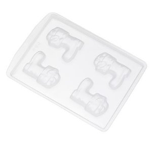 Forma de Acetato Bota de Natal M Ref. 603 Crystal Rizzo Confeitaria