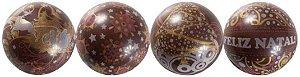 Blister Decorado com Transfer para Chocolate Bola de Natal 7cm BLN0070 Stalden Rizzo Confeitaria
