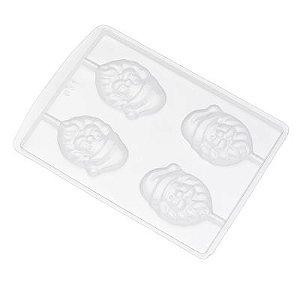 Forma de Acetato Noel Rosto Pirulito Ref. 631 Crystal Rizzo Confeitaria
