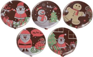 Blister Decorado com Transfer para Chocolate Pirulito de Natal 5cm BLN0049 Stalden Rizzo Confeitaria