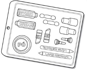 Forma de Acetato Kit Maquiagem I Mod. 1540 Crystal Rizzo Confeitaria