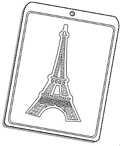 Forma de Acetato Torre Eiffel Mod. 1530 Crystal Rizzo Confeitaria