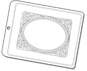 Forma de Acetato Espelho Moldura III Mod. 1212 Crystal Rizzo Confeitaria