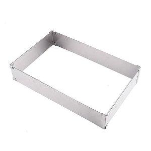 Forma Retangular Ajustável de 14x24cm até 48x48cm Le Chef Rizzo Confeitaria