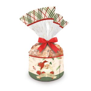 Saco para Panetone 500g Natal Magia 25cm x 35cm 100 unidades Cromus Rizzo Confeitaria