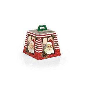 Caixa Mini Panetone 100g Natal Rústico 10 unidades Cromus Rizzo Confeitaria