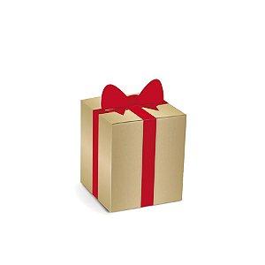 Caixa Mini Panetone 100g Laço 10 unidades Cromus Rizzo Confeitaria