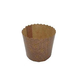 Forma Especial Estampada para Panetone 100g com 10 un. Mago Rizzo Confeitaria