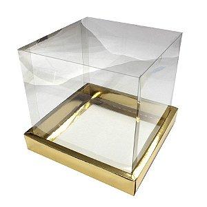 Caixa Panetone Ouro 250G com 5 un. Assk Rizzo Confeitaria