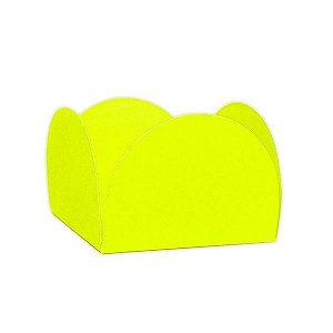 Forminha 4 Pétalas Amarelo Neon Cod. 10.80 com 50 un. Nc Toys Rizzo Confeitaria