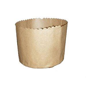 Forma para Panetone Kraft 1Kg com 10 un. Top Line Rizzo Confeitaria