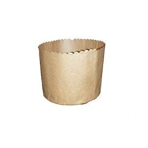 Forma para Panetone Kraft 500 g com 20 un. Top Line Rizzo Confeitaria