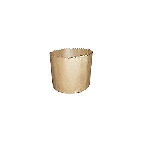 Forma para Panetone Kraft 100 g com 20 un. Top Line Rizzo Confeitaria