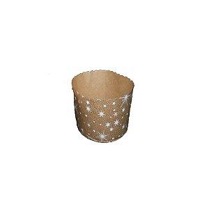 Forma para Panetone Decorada 100 g com 20 un. Top Line Rizzo Confeitaria