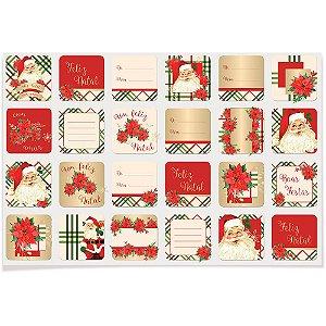 Etiqueta para Decoração e Presente Natal Magia 48 unidades Cromus Rizzo Confeitaria