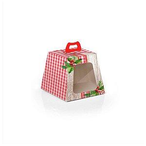 Caixa Mini Panetone 100g Natal Tradição 10 unidades Cromus Rizzo Confeitaria