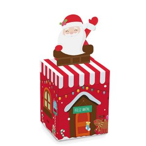 Caixa Panetone 500g Natal Papai Noel 10 unidades Cromus Rizzo Confeitaria