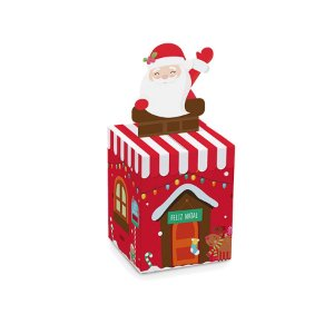 Caixa Mini Panetone 100g Papai Noel 10 unidades Cromus Rizzo Confeitaria