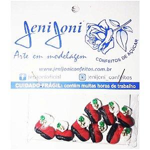 Confeitos Comestíveis Botinha de Natal Ref.10N - 8 unidades Jeni Joni Rizzo Confeitaria