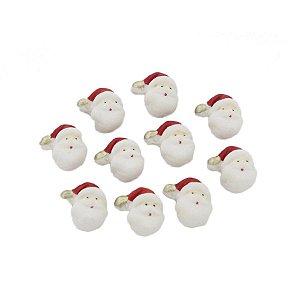 Confeitos Comestíveis Mini Papai Noel de Natal Ref.4N - 10 unidades Jeni Joni Rizzo Confeitaria