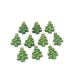 Confeitos Comestíveis Mini Árvore de Natal Ref.24N - 10 unidades Jeni Joni Rizzo Confeitaria