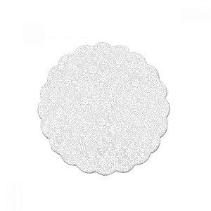 Tapetinho para Doces 9cm Branco Rendado com 100 un. Cromus Rizzo Confeitaria