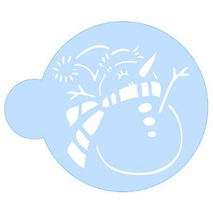 Stencil Boneco de Neve SCCN010 Litoarte Rizzo Confeitaria