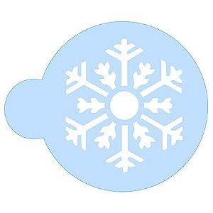 Stencil Floco de Neve SCCN011 Litoarte Rizzo Confeitaria