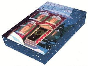 Caixa Divertida Natal Casa 12 Doces com 3 un. Erika Melkot Rizzo Confeitaria