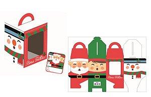 Caixa Mini Panetone Noel com 3 un. Erika Melkot Rizzo Confeitaria