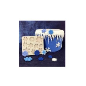 Molde de silicone Flocos de Neve N11 Molds Planet Rizzo Confeitaria