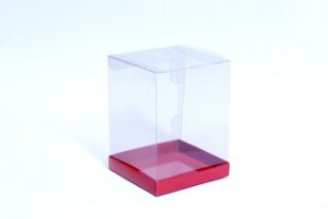Caixa para Panetone 250g Vermelha 12 cm com 5 un. Eluhe Rizzo Confeitaria