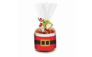 Kit Panetone Cinto Noel 100 g com 10 un. Cromus Rizzo Confeitaria