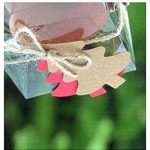 Tag Árvore de Natal Vermelha Rizzo Confeitaria