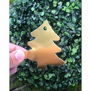 Tag Árvore de Natal Dourado Rizzo Confeitaria