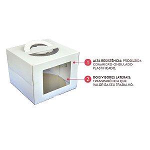 Caixa para Bolo com Visor 28,5 X 20 cm Ultrafest Rizzo Confeitaria