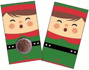 Cartão Blister Natal Duende com 10 un. Erika Melkot Rizzo Confeitaria