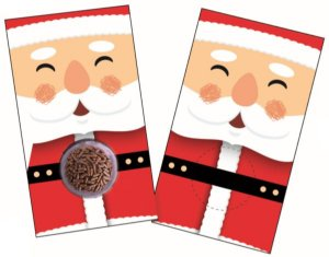Cartão Blister Natal Noel Ref. 779 com 10 unid. - Erika Melkot Rizzo Confeitaria