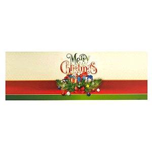 Cinta Mini Panetone Laço - Merry Christmas - 05 unidades - Erika Melkot - Rizzo