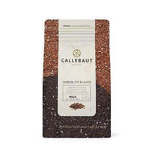 Chocolate Callebaut Ao Leite SPLIT-9-M Flocos 1 kg Rizzo Confeitaria
