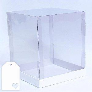 Caixa para Panetone 500g Branca 17 cm com 5 un. Eluhe Rizzo Confeitaria