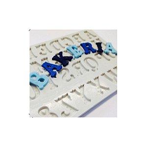 Molde de Silicone Alfabeto S355 Molds Planet Rizzo Confeitaria