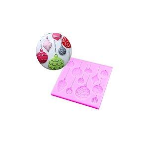 Molde de Silicone Bolas de Natal S391 Molds Planet Rizzo Confeitaria